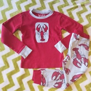 Lazy One Lobster 2-piece Lobster Pajamas 3t